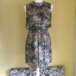 Emerson Fry Silk Watercolor dress sz 4 BEAUTIFUL